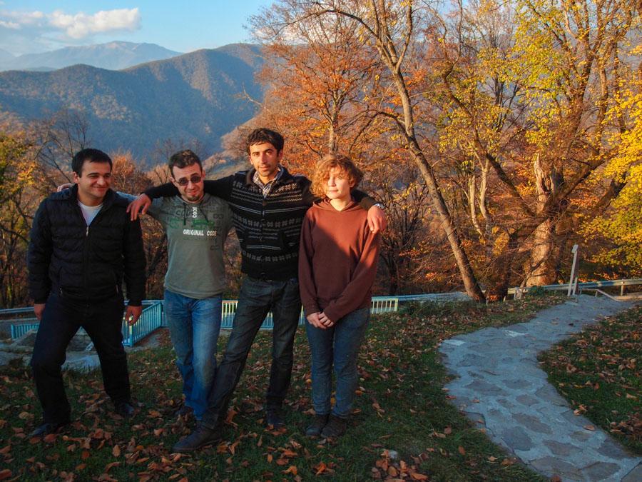 Мы в монастыре Некреси, снимал Лаша